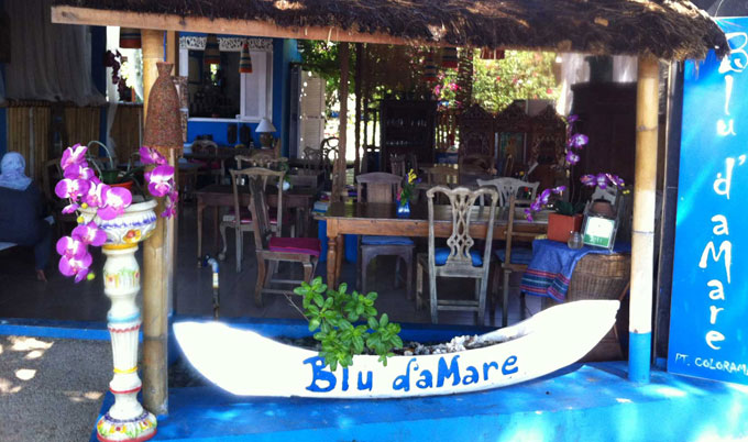 blu de mare where to eat gili trawangan