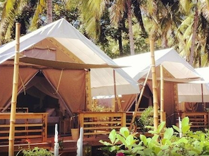 luxury tent Gili Trawangan accommodation